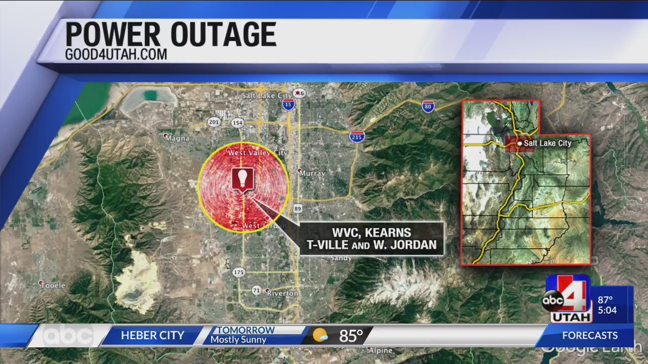 Large Power Outage In Salt Lake Valley Affected 15k Residents