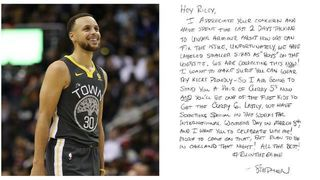 6764a0837d04 Steph Curry responds after 9-year-old asks why his shoes aren t made for  girls