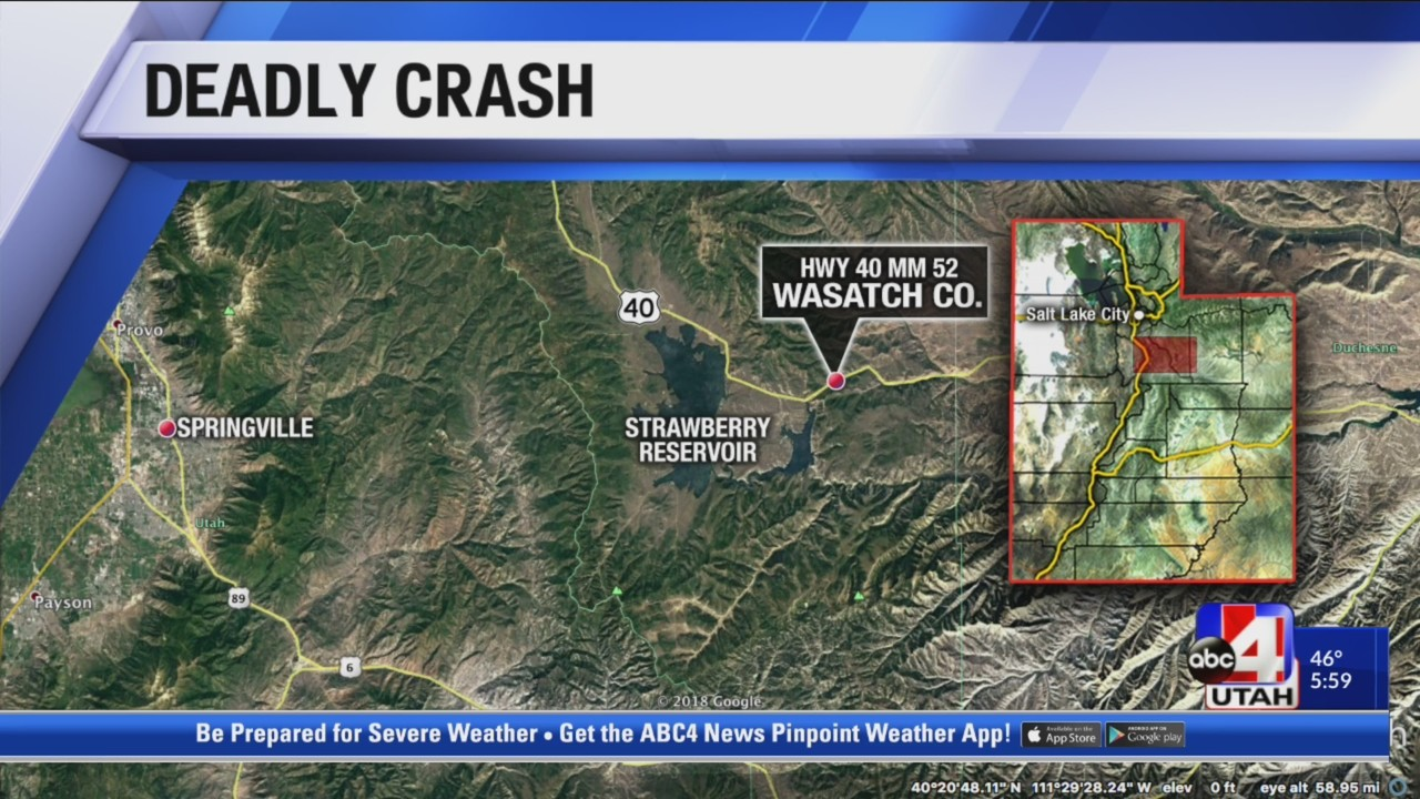 2 dead in crash on Highway 40 near Strawberry Reservoir