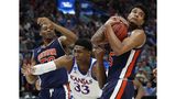 Auburn blows past Kansas 89-75 to reach Sweet 16